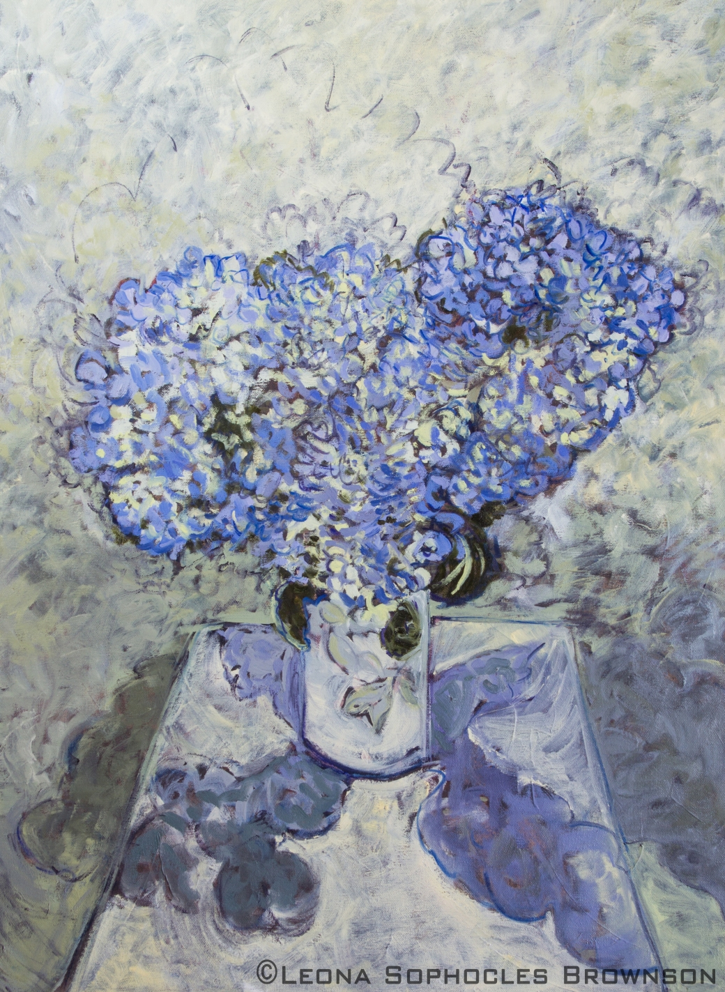 "Hydrangeas | Oil on Canvas | 22""x33"" framed"