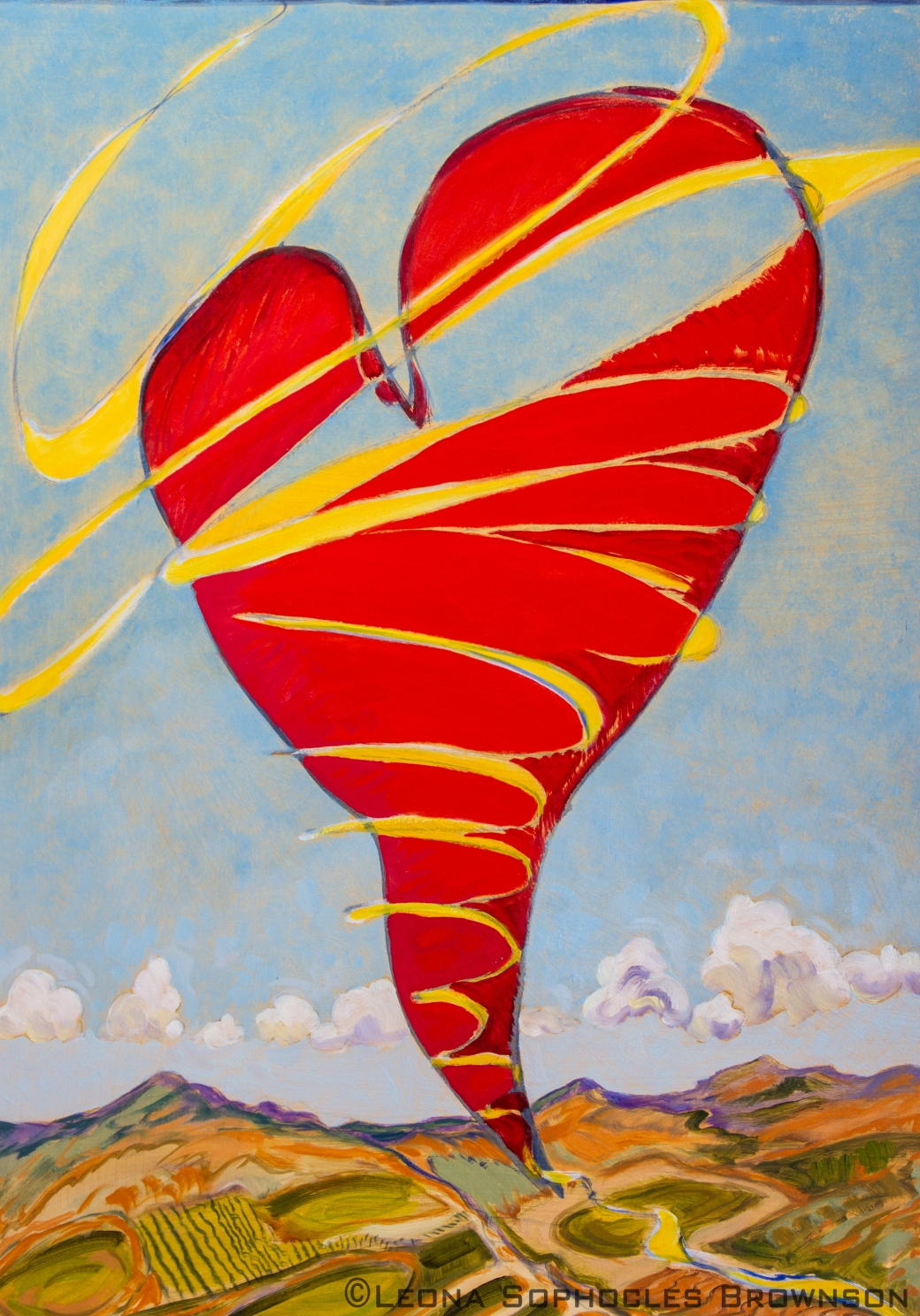 "Heart Like a Kite | Oil on Primed, archival paper | 16""x22"""