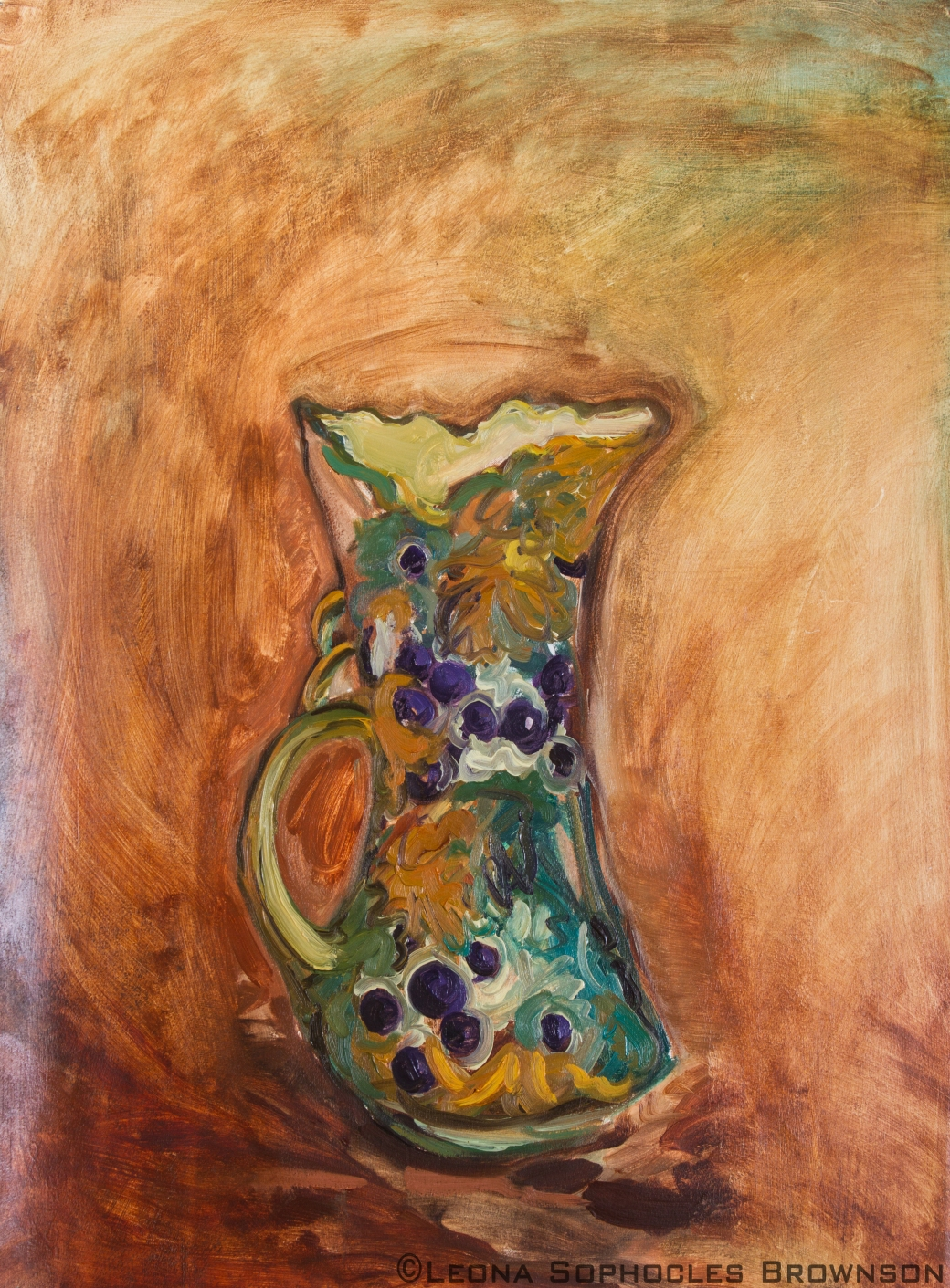 "Victorian Vase #2 | Oil on primed, archival paper | 22""x30"" unframed"