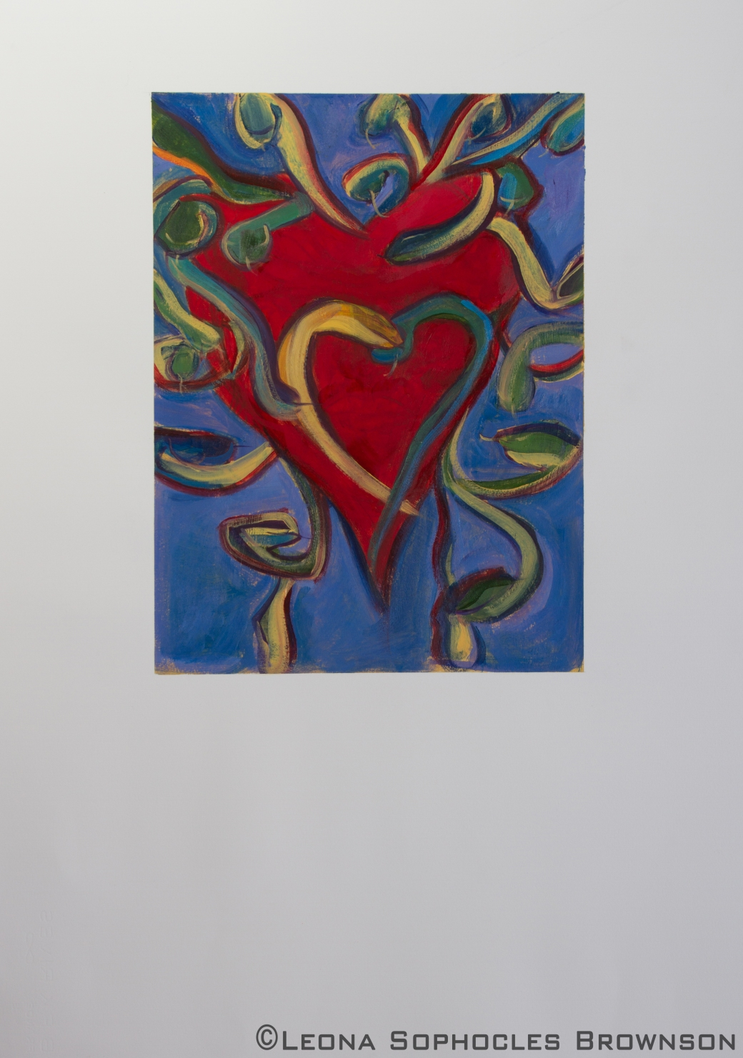 "Medusa Heart | Acrylic on primed, archival paper | 22""x30"" unframed"
