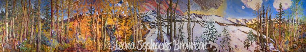 "Four All Seasons   8""x48"" Print plus Borders   Available framed: $475   Availalbe unframed: $275"